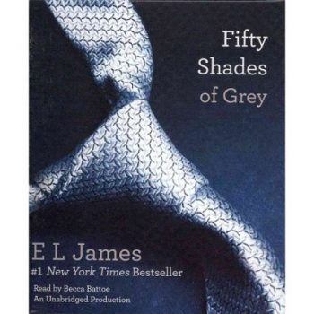 Omslaget till ljudboken 50 shades of grey